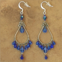 NEW Crystal Chandelier Earrings | Royal Blue | Lg