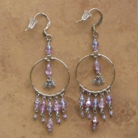 Beaded Chandelier Earrings | Lilac | Sm