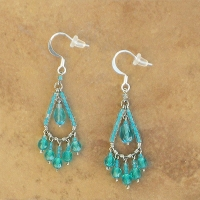 NEW Chandelier Earrings | Peacock Teal | Sm