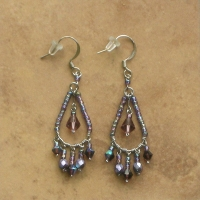 Beaded Chandelier Earrings | Amethyst | Sm