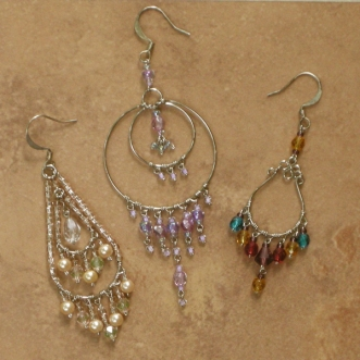 Wholesale crystal chandelier earrings handcrafted wirework jewelry crystal chandelier earrings wholesale assorted 12 pack lg aloadofball Images