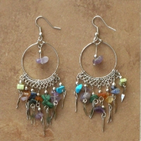 Gemstone Beaded Earrings | Fiesta Hoops