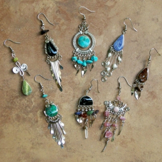 Peruvian Stone Earrings | Wholesale Assorted 48 Pack