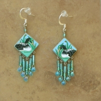 SALE Bird Jewelry | Lake Loon Earrings Sq | Hook
