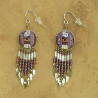Peru Southwestern Earrings | Eagle | Purple