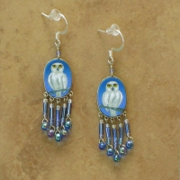 Bird Jewelry | Snowy Owl Earrings | Hook