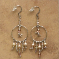 Beaded Chandelier Earrings | Champagne | Sm