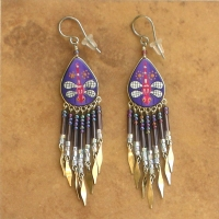 Nature Jewelry | Purple Dragonfly Earrings