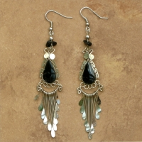Peruvian Stone Jewelry | Classic Earrings | Black Onyx