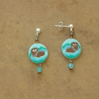 Animal Jewelry | River Otters Earrings | Posts