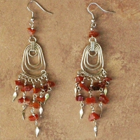 NEW Peruvian Stone Chip Earrings | Waterdrops | Carnelian