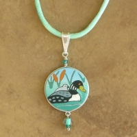 Animal Jewelry | Children's Loon & Baby Necklace
