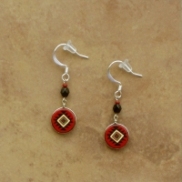 Small Peruvian Earrings | Red & Black