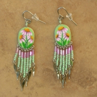 Nature Jewelry | Cone Flowers Earrings