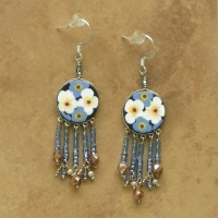Floral Jewelry | Forget Me Nots Earrings | Hook