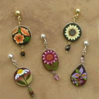 Flower Jewelry | Wholesale Earring, Asst. 12 Pack | Post