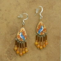 Bird Jewelry | Blue Jay Earrings | Hook