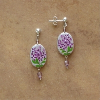 Flower Jewelry | Lilacs Earrings | Post