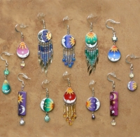 Celestial Jewelry | Sun & Moon Earrings | Wholesale Dz | A Pack