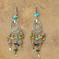 BRAND NEW Multi Color Stone Earrings | Waterdrops