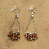 Beaded Chandelier Earrings | Almost Fall | Sm