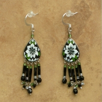Tropical Floral Jewelry | Passionflower Earrings | Hook