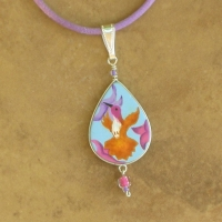 Garden Jewelry | Child's Hummingbird Necklaces