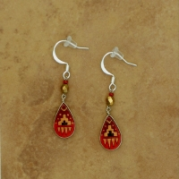 Small Peruvian Earrings | Red & Gold