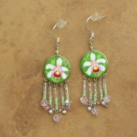 Tropical Floral Jewelry | White Orchid Earrings | Hooks