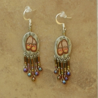 Lodge | Indian Moccasin Earrings | Hooks