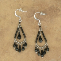 NEW Chandelier Earrings | Jet Black | Sm