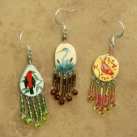 Bird Jewelry Handcrafted | Wholesale Assorted 12 Pack | Hook