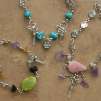 Stone Anklets | Wholesale | 1 Dozen Pack