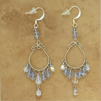 Crystal Chandelier Earrings | Sapphire | Lg