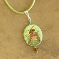 Animal Jewelry | Children's Moose Necklace