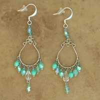 Crystal Chandelier Earrings | Turquoise | Lg