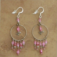 Beaded Chandelier Earrings | Soft Pink | Sm