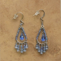 Beaded Chandelier Earrings | Sapphire | Sm