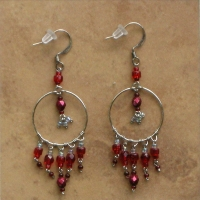Beaded Chandelier Earrings | Fiery Red | Sm