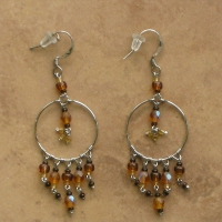 Beaded Chandelier Earrings | Brown | Sm