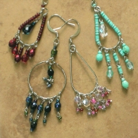 Beaded Chandelier Earrings | Wholesale Assorted 12 Pack | Sm