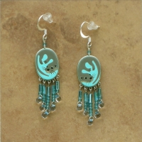 SALE Animal Jewelry | Sea Otters Earrings | Hooks