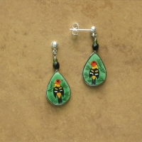 Bird Jewelry | Western Tanager Earrings | Posts