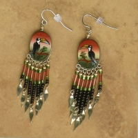 SALE Nature Jewelry | Jungle Toucans Earrings