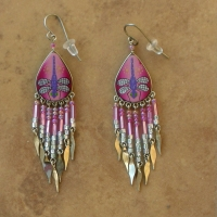 Nature Jewelry | Pink Dragonfly Earrings