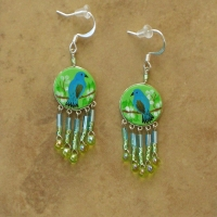 Bird Jewelry | Indigo Bunting Earrings | Hook