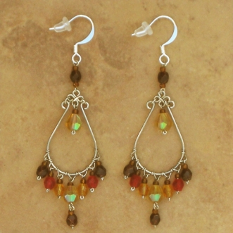 Crystal Chandelier Earrings | Almost Fall | Lg