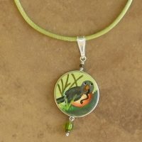 Garden Jewelry | Child's Red Robin Necklaces
