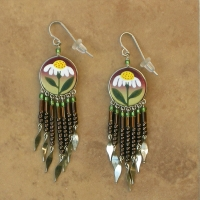 Nature Jewelry | Daisies Flower Earrings