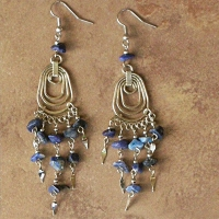 NEW Peruvian Stone Chip Earrings | Waterdrops | Sodalite